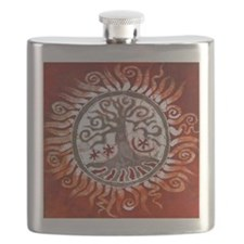 red tree of life Flask