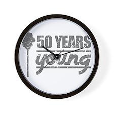 50 Years Young (Birthday) Wall Clock