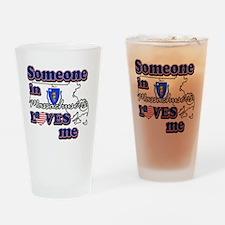 massachusetts Drinking Glass