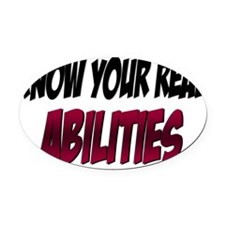 real abilities Oval Car Magnet