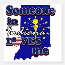"indiana Square Car Magnet 3"" x 3"""