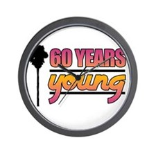 60 Years Young (Birthday) Wall Clock