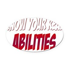 real abilities_dark Oval Car Magnet