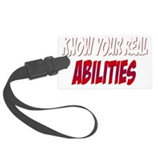 real abilities_dark Luggage Tag