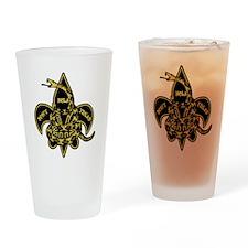 DONT TREAD GOLD BLACK Drinking Glass