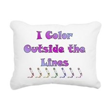 color_dark Rectangular Canvas Pillow