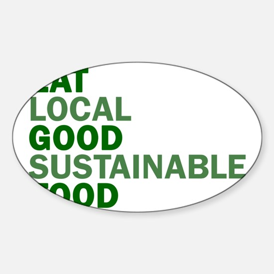 eat-good Sticker (Oval)