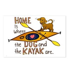 HOMEkayakDOG Postcards (Package of 8)