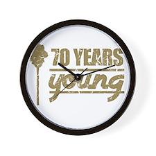70 Years Young (Birthday) Wall Clock