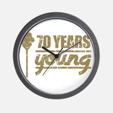 70 Years Young (Birthday) Wall Clock