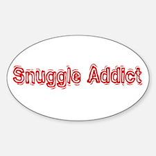 """Snuggle Addict"" Oval Decal"