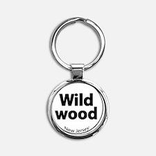 wildoowd2circle Round Keychain