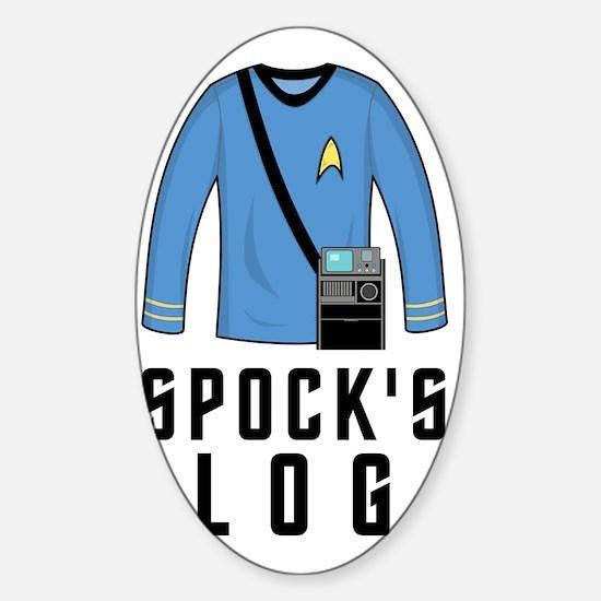 spockslog Sticker (Oval)