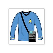 "spockshirttricorder000 Square Sticker 3"" x 3"""