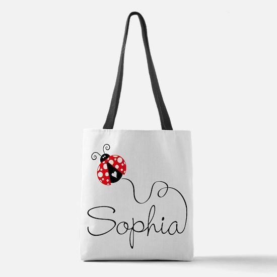 Ladybug Sophia Polyester Tote Bag