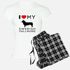 I love My Swedish Vallhund Pajamas