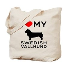 I love My Swedish Vallhund Tote Bag