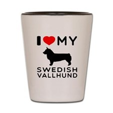 I love My Swedish Vallhund Shot Glass
