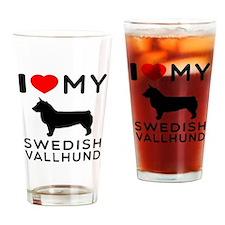 I love My Swedish Vallhund Drinking Glass