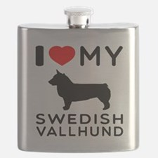 I love My Swedish Vallhund Flask