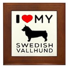 I love My Swedish Vallhund Framed Tile