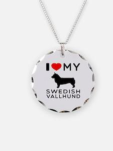 I love My Swedish Vallhund Necklace