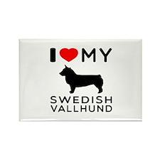 I love My Swedish Vallhund Rectangle Magnet