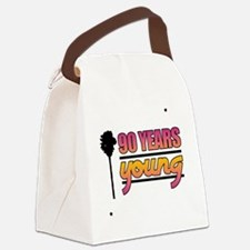 90 Years Young (Birthday) Canvas Lunch Bag