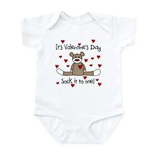 Valentine Sock Monkey Infant Bodysuit