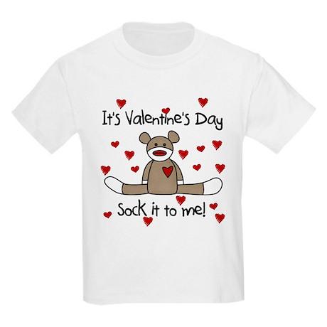 Valentine Sock Monkey Kids T-Shirt
