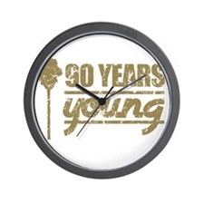 90 Years Young (Birthday) Wall Clock