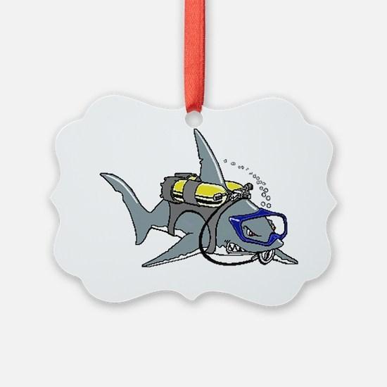 Scuba Shark Ornament