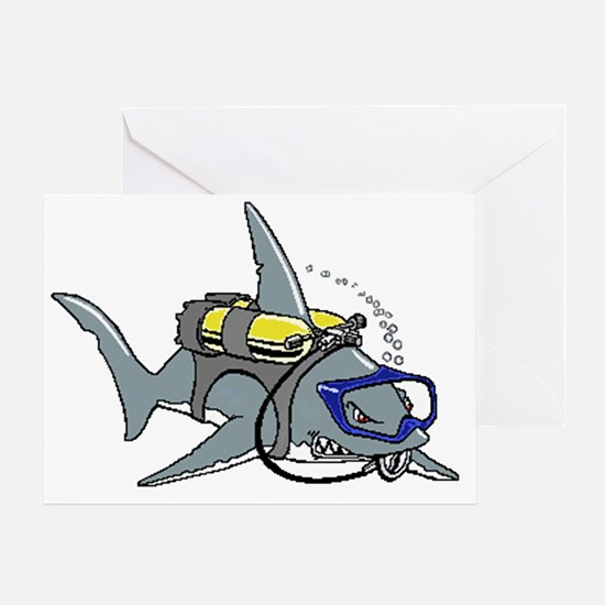 Scuba Shark Greeting Card