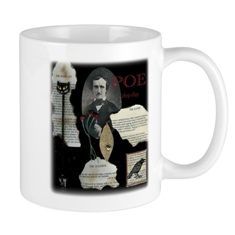 Poe Collage Coffee Mug features The Raven &