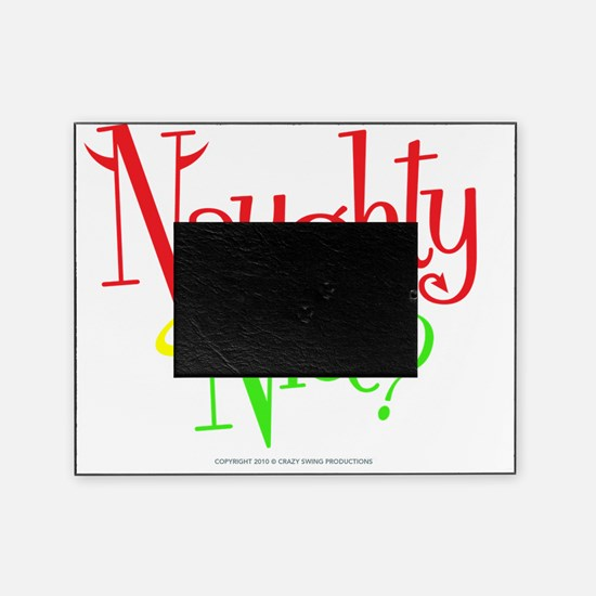 naughty-nice Picture Frame
