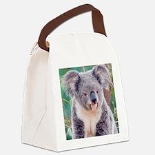 Koala Smile round ornament Canvas Lunch Bag