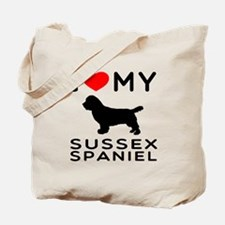 I love My Sussex Spaniel Tote Bag