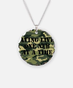 savinglivescamo2 Necklace Circle Charm