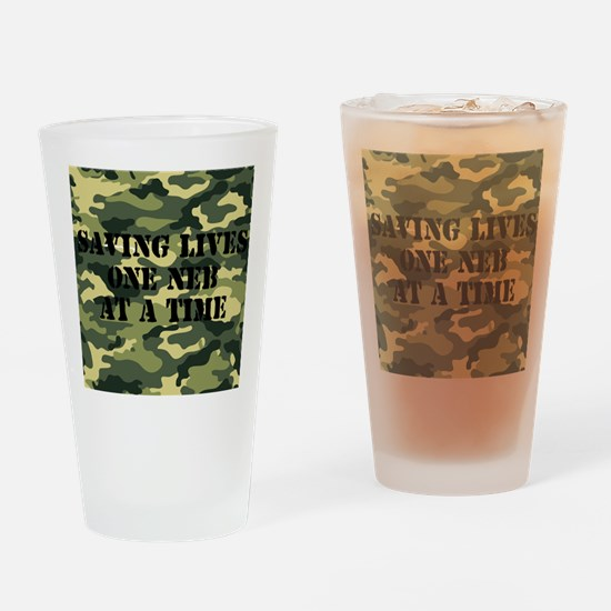 savinglivescamo2 Drinking Glass