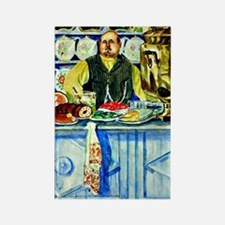 Kustodiev: Restaurant Owner, pain Rectangle Magnet
