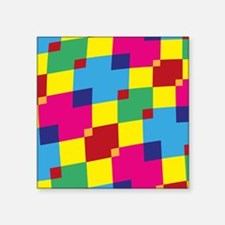 Retro Squares Sticker