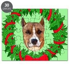 pitbull christmas Puzzle