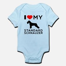 I love My Standard Schnauzer Infant Bodysuit