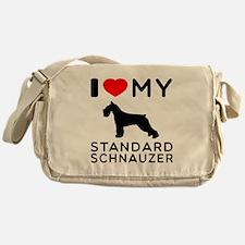 I love My Standard Schnauzer Messenger Bag
