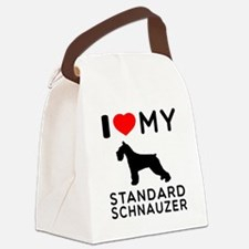 I love My Standard Schnauzer Canvas Lunch Bag