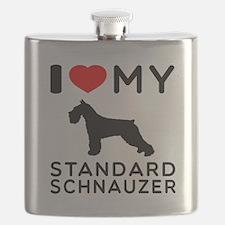 I love My Standard Schnauzer Flask