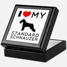 I love My Standard Schnauzer Keepsake Box