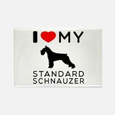 I love My Standard Schnauzer Rectangle Magnet (100