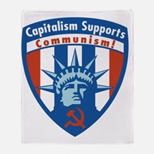 CapitalismSupportsComm3 Throw Blanket