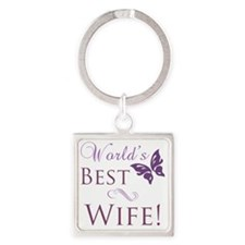 Butterfly_wife Square Keychain